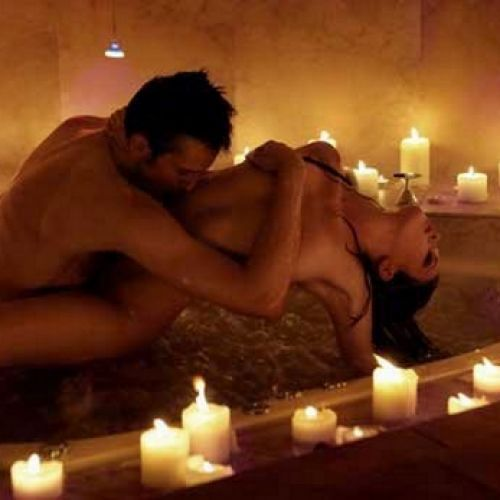 Фото секс при свечах