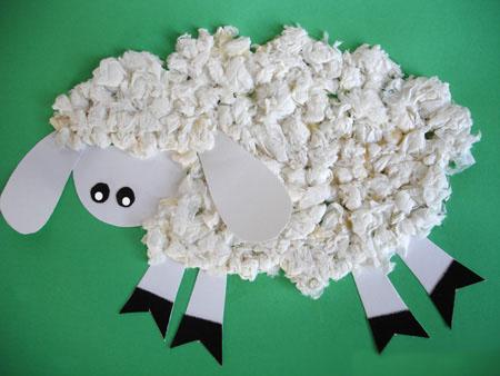 Барашки овечки из бумаги