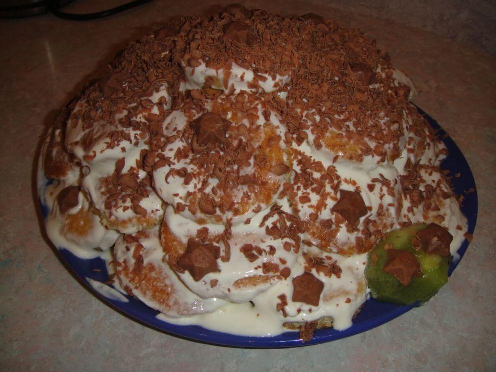 Простой рецепт торта в домашних условиях с фото со сметаной