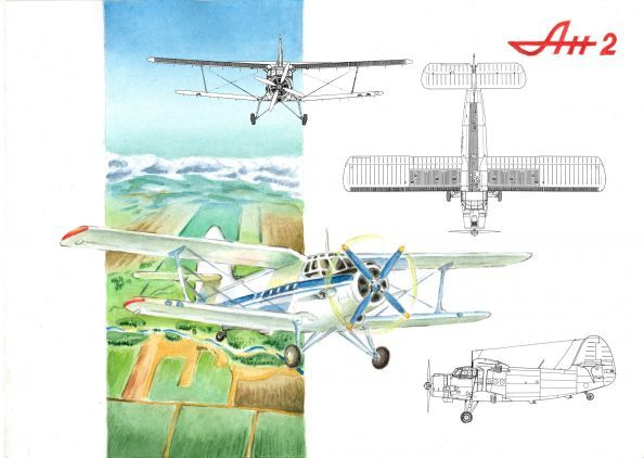 чертежи самолета ан 2