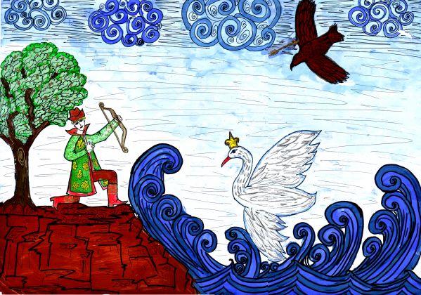 Рисунок про сказку о царе